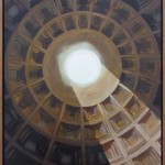"""""""Opening"""" Painting of the Pantheon ceiling from painting series """"Presence"""""""